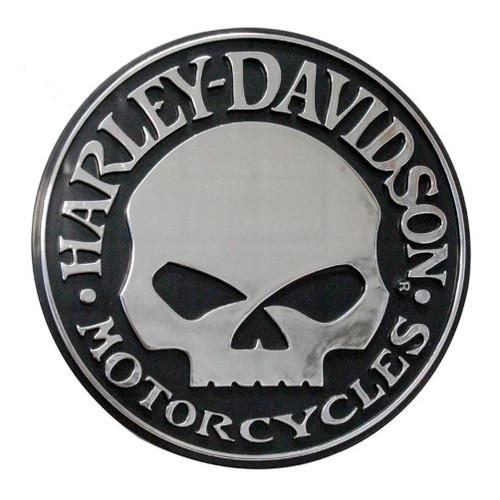 harley davidson willie g skull chrome injection molded emblem rh wisconsinharley com harley davidson skull logo vector harley davidson skull logo vector