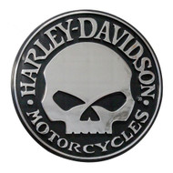 Harley-Davidson® Willie G Skull Chrome Injection Molded Emblem, Chrome CG9113 - Wisconsin Harley-Davidson