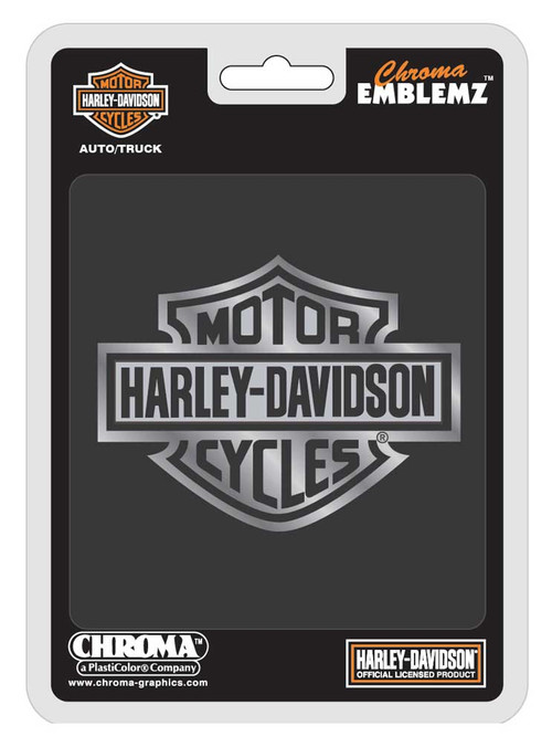 Harley-Davidson® Bar & Shield Chrome Injection Molded Emblem, Chrome CG9107 - Wisconsin Harley-Davidson