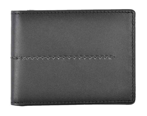 ROUT Entrepreneur Classic Billfold Wallet, Full Grain Black Leather RLN30524