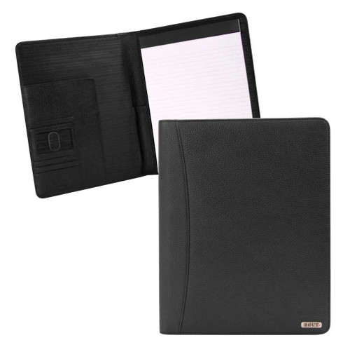 ROUT Competitor Milled Leather Writing Pad, 10.25 x 12.5 inches, Black RBN25518