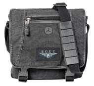ROUT Voyager Vertical Messenger Bag, Washed Black Cotton Canvas RC10539