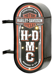 Harley-Davidson® HDMC Marquee Lite-Up Pub Sign, Distressed Steel HDL-15516