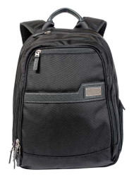 ROUT Competitor Ballistic / Leather Backpack, Zippered Laptop Pocket RBN22036