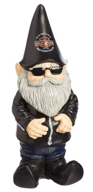Good Harley Davidson® Biker Themed Garden Gnome, 4.5 X 3.5 X 11 Inches 544902    Wisconsin Harley Davidson