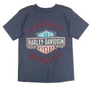 Harley-Davidson® Little Boys' Legendary Short Sleeve Tee, Denim Heather 1580685