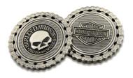 Harley-Davidson® Skull / Bar & Shield Chain Challenge Coin, 1.75 inch 8005184 - Wisconsin Harley-Davidson
