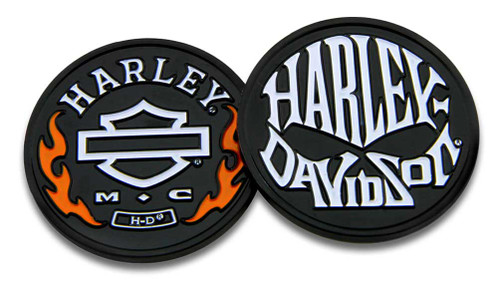 Harley-Davidson® Flames & H-D Skull Challenge Coin, 1.75 in Coin, Black 8005078