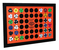 Harley-Davidson® Orange Poker Chip Collector's Frame, Holds 52 Poker Chips 6952 - Wisconsin Harley-Davidson