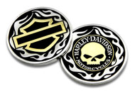 Harley-Davidson® Golden Skull / Bar & Shield Challenge Coin, 1.75 inch 8005092