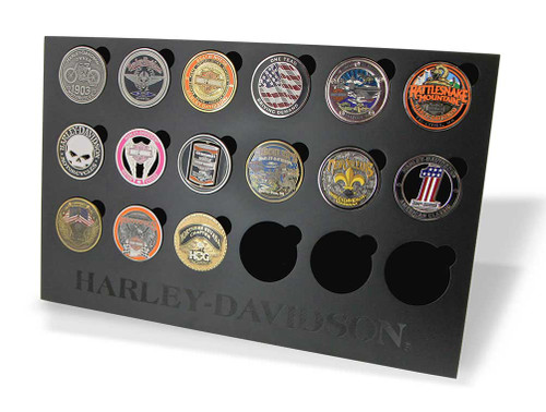 Harley-Davidson® Collectors Coin Display Stand, Holds 18 Coins, Black 8003500