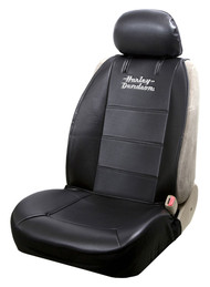 Harley-Davidson® Stacked Logo Universal Sideless Seat Cover, Black – Single 8615