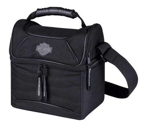 Harley-Davidson® Bar & Shield Logo Insulated Lunch Tote Cooler, Black 451-00 - Wisconsin Harley-Davidson