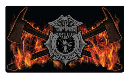 Harley-Davidson® Embossed Firefighter Axes Tin Sign, 16.5 x 9.5 inches 2011211 - Wisconsin Harley-Davidson