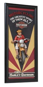 Harley-Davidson® Motorcycling Sculpted 3D Accent Pub Sign, 10 x 22 inch HDL-15314