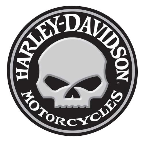 Harley-Davidson® Embossed Willie G Skull Button Round Tin Sign, 14 inch 2011021 - Wisconsin Harley-Davidson