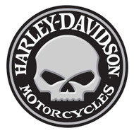 Harley-Davidson® Embossed Willie G Skull Button Round Tin Sign, 14 inch 2011021 - Wisconsin Harley-Davidson