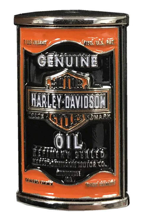 Harley-Davidson® 3D Genuine Oil Can Pin, Silver Finish, 1.5 x 0.75 inch 257677