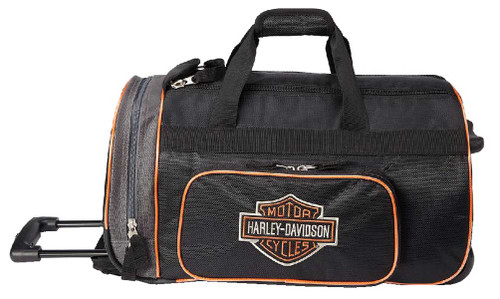"Harley-Davidson® Bar & Shield Logo 20"" Wheeling Duffel Carry-On Bag 99416-BLACK - Wisconsin Harley-Davidson"