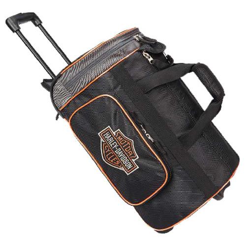 "Harley-Davidson® Bar & Shield Logo 29"" Wheeling Duffel Carry-On Bag 99412-BLACK - Wisconsin Harley-Davidson"