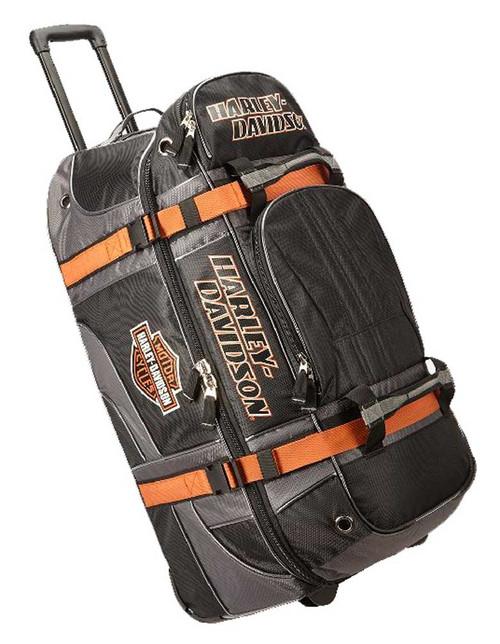 "Harley-Davidson® Bar & Shield Logo 22"" Carry-On Wheeling Duffel Bag 99415-BLACK"