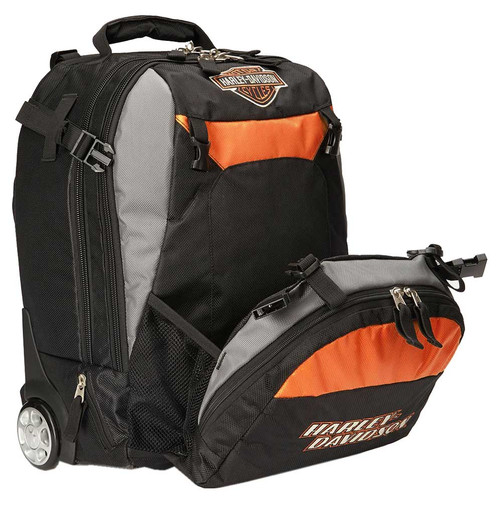 Harley-Davidson® Bar & Shield Logo Wheeling Backpack Carry-On Bag 99411-BLACK