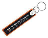 Harley-Davidson® Screamin' Eagle Script Woven Key Chain, Black/Orange HARLNV0103 - Wisconsin Harley-Davidson