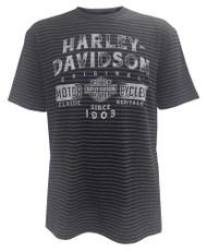 Harley-Davidson® Men's Distressed Power Short Sleeve Stripe T-Shirt 5J32-HB5X - Wisconsin Harley-Davidson