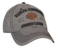 Harley-Davidson® Men's Embroidered Bar & Shield Baseball Cap, Charcoal BCC51654 - Wisconsin Harley-Davidson