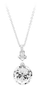 Harley-Davidson® Women's Big Bling Clear Crystal Necklace, Silver HDN0354-18 - Wisconsin Harley-Davidson