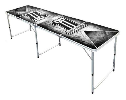 Harley-Davidson® Dark Custom #1 Skull Beer Pong Table, 8ft. Aluminum 66293 (66293)