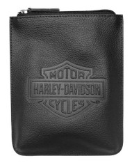 Harley-Davidson® Women's Embossed Bar & Shield Belt Bag / Crossbody ZWL4717-BLACK