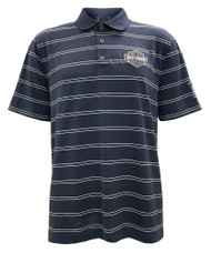 Harley-Davidson® Men's Performance Striped Premium SS Polo, Blue H013-HB8B