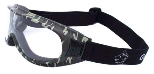 Guard-Dogs Unisex Commander I Clear Lens FogStopper Goggles, Camo 050-11-16