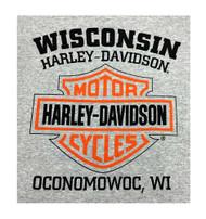 Harley-Davidson® Men's Bar & Shield Logo Pullover Hooded Sweatshirt, Gray