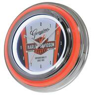 Harley-Davidson® Nostalgic Bar & Shield Double LED Clock, 14 inch HDL-16635