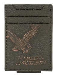 Harley-Davidson® Men's Vintage Eagle Front Pocket Leather Wallet EV4369L-BLACK