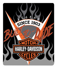 Harley-Davidson® Bar & Shield Silk Touch Throw Blanket, 50 x 60 inch NW720046 - Wisconsin Harley-Davidson