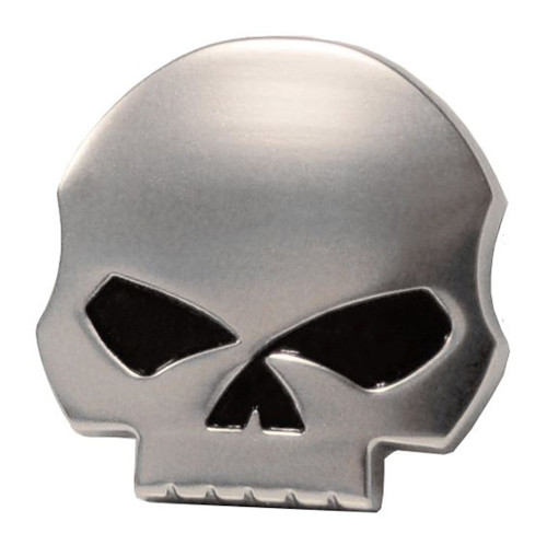 Harley-Davidson® Antique Nickel Willie G Skull Medallion, 1.5 x 1.5 inch 14100228 - Wisconsin Harley-Davidson
