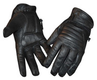 Redline Women's Soft Fleece Lining Motorcycle Leather Gloves, Black GL-56