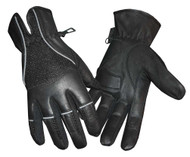Redline Men's Vented Full-Finger Anti-Vibration Leather Gloves, Black G-047