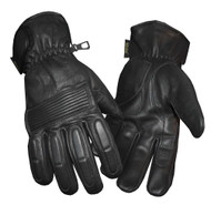 Redline Men's Winter Gloves w/ Kevlar Palms & Thinsulate Lining, Black G-050