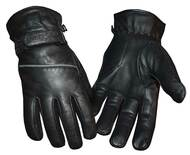 Redline Men's Reflective Piping Full-Finger Thinsulate Leather Gloves G-048