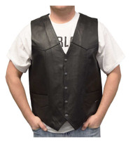 Redline Leather Men's Buffalo Leather Gun Pocket Motorcycle Riding Vest M-2265WO