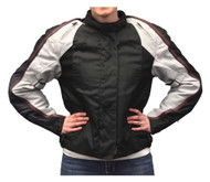 Redline Women's Body Armor Racing Colorblocked Nylon Jacket, Black L-2455