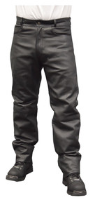 Redline Mens Classic Waterproof Leather Motorcycle Fully Lined Pants M-1500WP