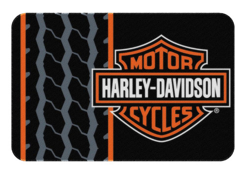 Harley-Davidson® Bar & Shield Tread Round Edge Rug, 20 x 30 Inch NW712171