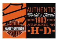 Harley-Davidson® Sell Off Bar & Shield Tufted Rug, 39 x 59 Inch, Black NW712164