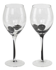 Harley-Davidson® Silhouette Bar & Shield Wine Glass Set, 12 oz. HDL-18767