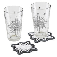 Harley-Davidson® Celebrate Pint Glass Set, Two Glasses w/ Coasters HDL-18772 - Wisconsin Harley-Davidson